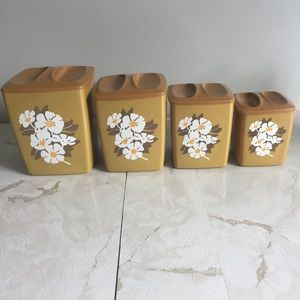 Vintage Nesting Kitchen Counter Containers